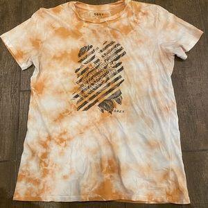Bleach washed t shirt